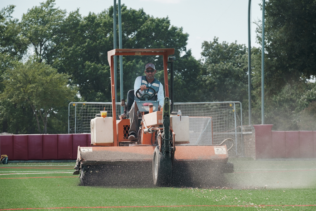 Artificial Turf Maintenance performed by RS Global team member