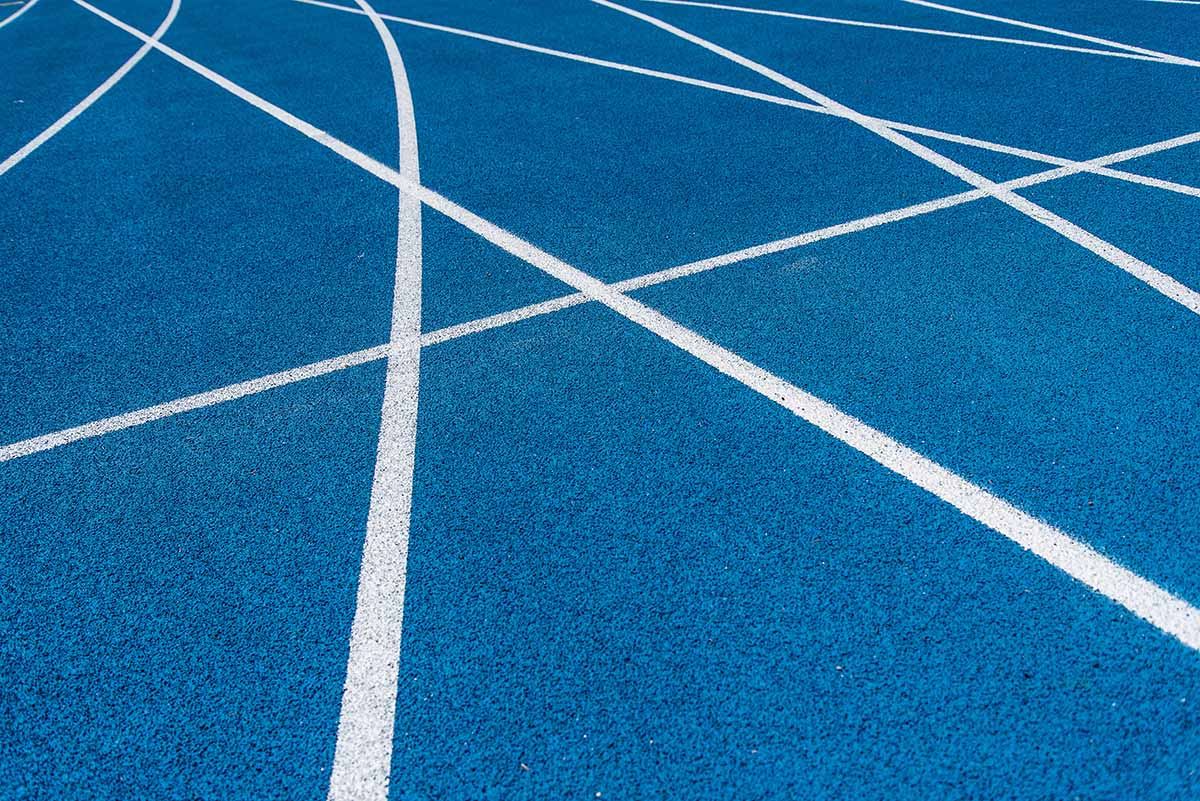 RS Global's Running Track Restriping service can rejuvenate your athletic facilities