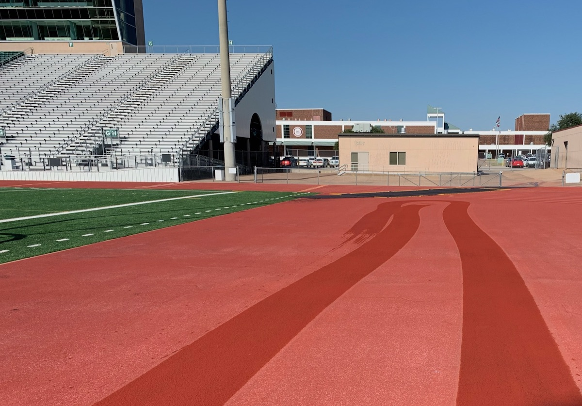 RS Global's running track cleaning program can restore the original color of your facility's track.